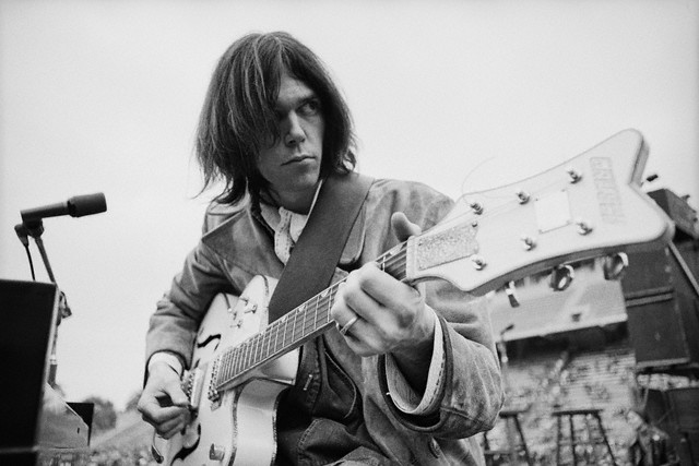Neil Young Playing Electric Guitar
